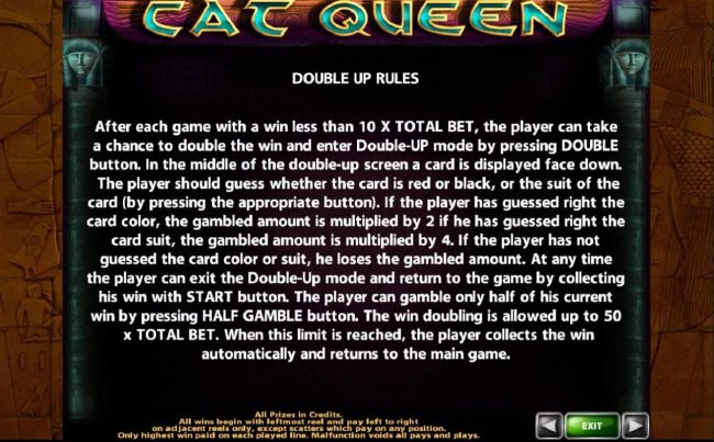 Double Up Rules