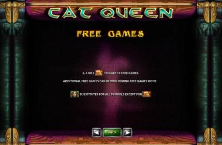 Vegas Red featuring the Video Slots Cat Queen with a maximum payout of $20,000