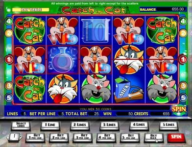 Casdep featuring the Video Slots Catch the Cat with a maximum payout of $40,000