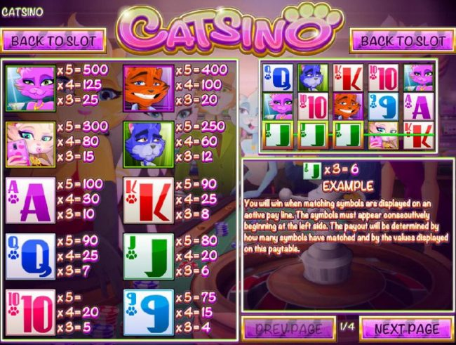 Black Lotus featuring the Video Slots Catsino with a maximum payout of $3,125
