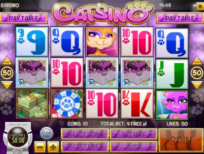 Play slots at Golden Lion: Golden Lion featuring the Video Slots Catsino with a maximum payout of $3,125