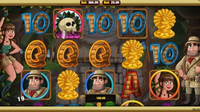 Mobireels featuring the Video Slots Cave Raiders HD with a maximum payout of $25,000