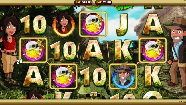 Mobireels featuring the Video Slots Cave Raiders with a maximum payout of $25,000