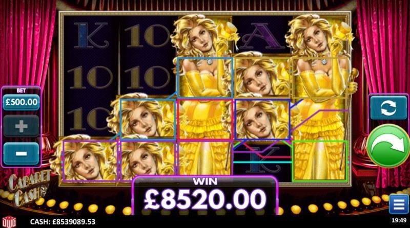 Cabaret Cash :: Multiple winning paylines