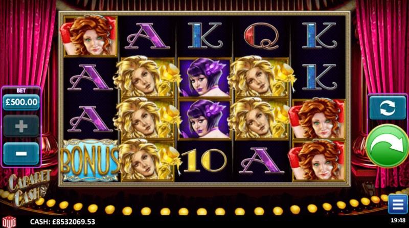 Cabaret Cash :: Base Game Screen