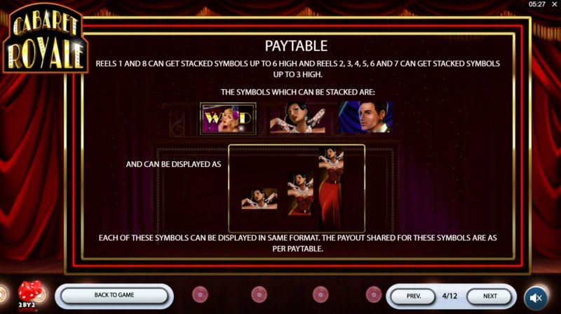 Cabaret Royale :: Feature Rules