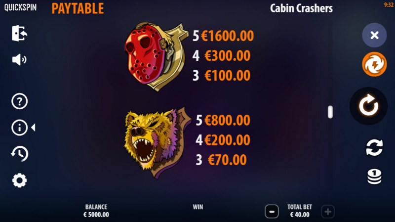 Cabin Crashers :: Paytable - High Value Symbols
