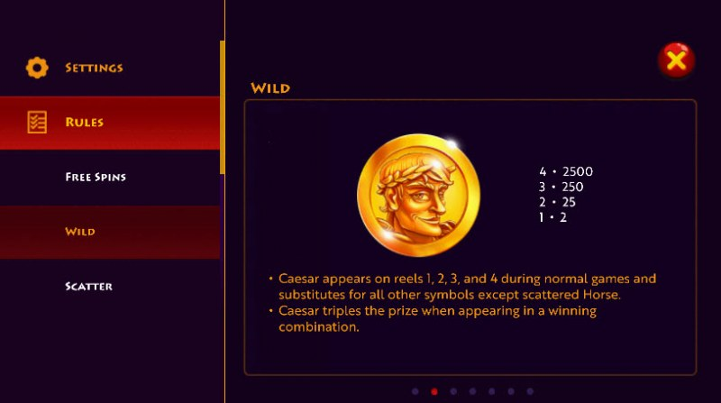 Caesar's Conquest :: Wild Symbols Rules