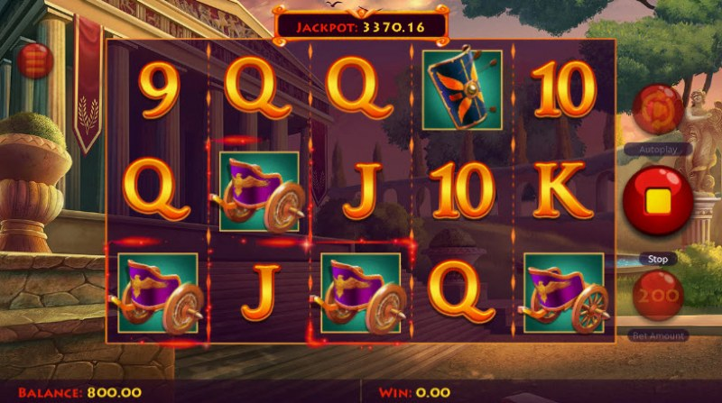 Caesar's Conquest :: Three of a kind win