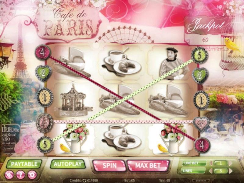 Cafe de Paris :: Multiple winning paylines