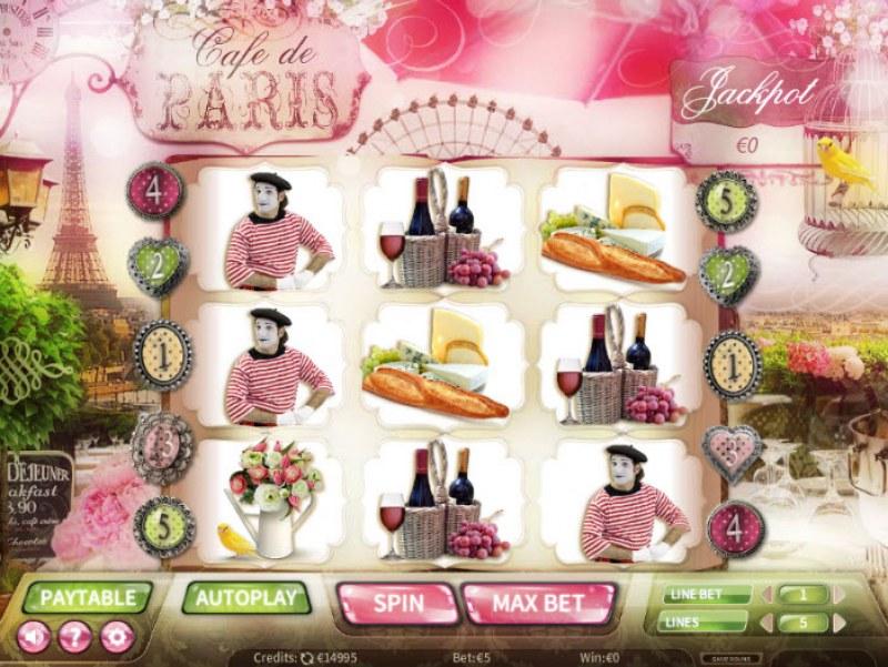 Cafe de Paris :: Main Game Board