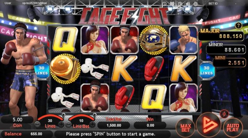 Cage Fight :: Main Game Board