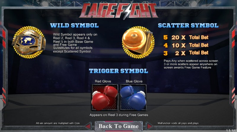 Cage Fight :: Wild and Scatter Rules