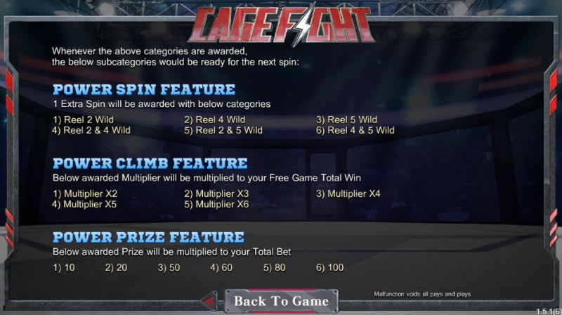 Cage Fight :: Feature Rules