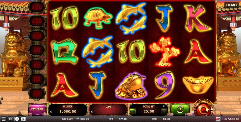 Play slots at Win Monaco: Win Monaco featuring the Video Slots Cai Shen 88 with a maximum payout of $17,500
