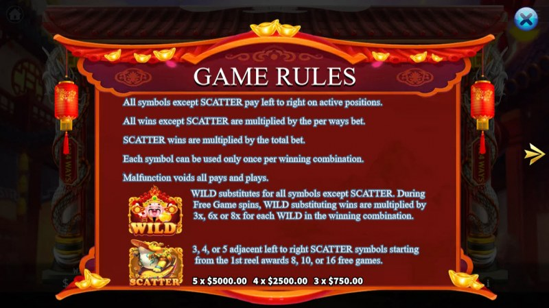 Cai Yuan Guang Jin :: General Game Rules