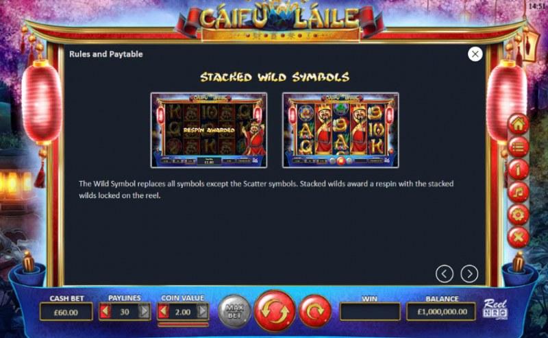 Caifu Laile :: Stacked Wild Symbols
