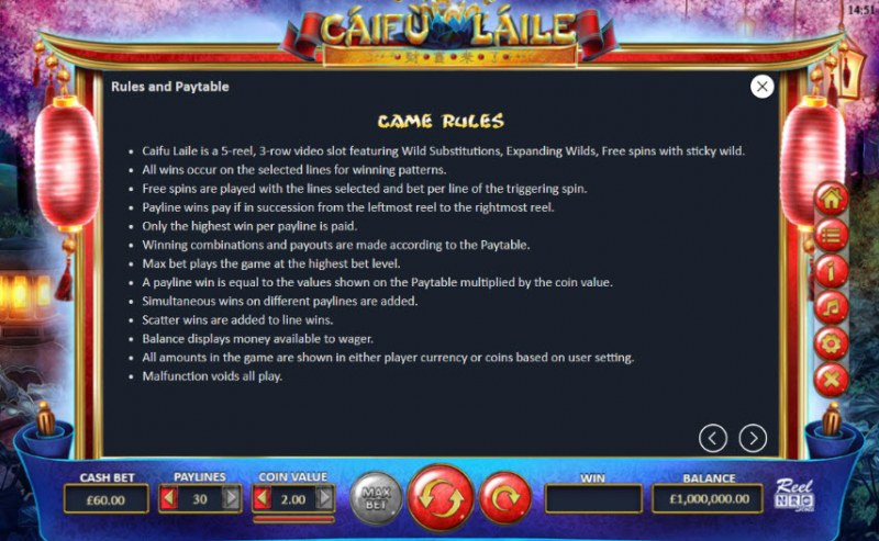 Caifu Laile :: General Game Rules