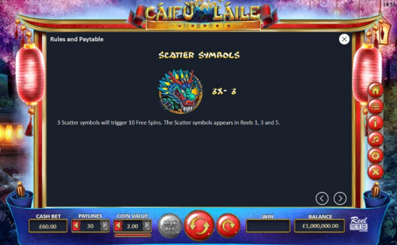Caifu Laile :: Scatter Symbol Rules