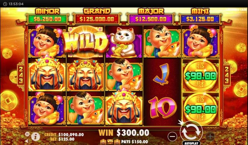 Caishen's Cash :: Multiple winning combinations