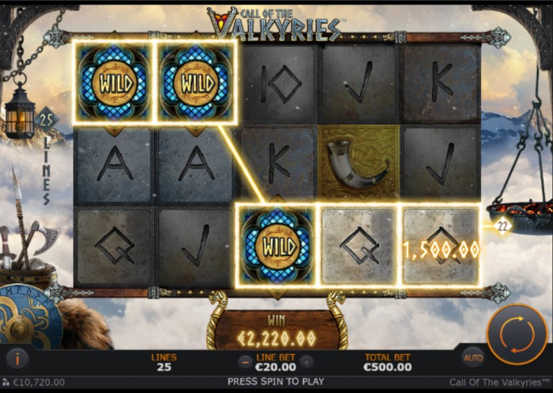 Call of the Valkyries :: A five of a kind win