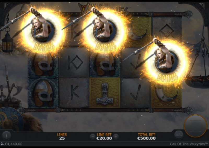 Call of the Valkyries :: Scatter symbol triggers the bonus feature