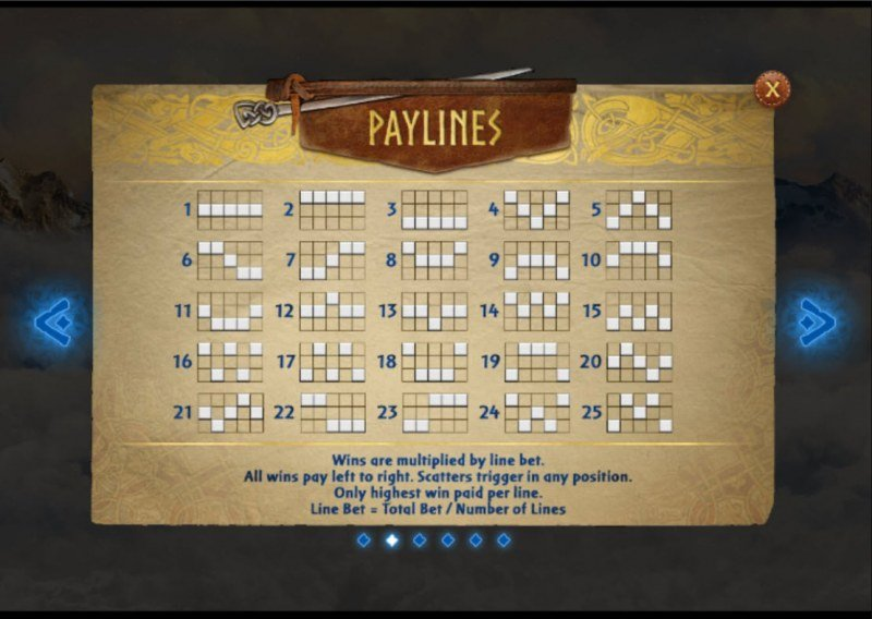 Call of the Valkyries :: Paylines 1-25