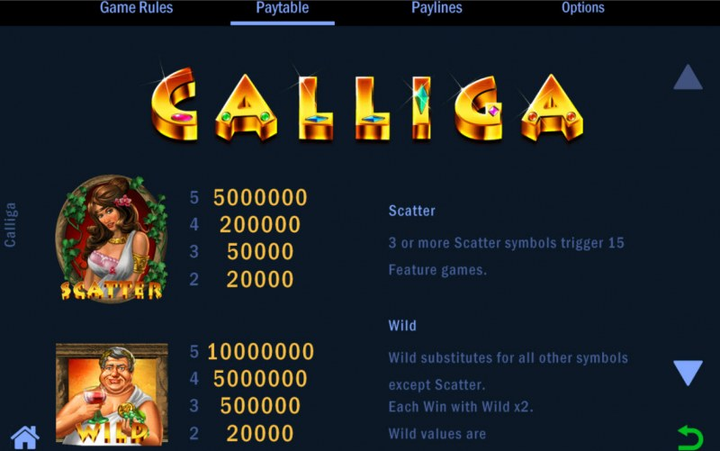 Calliga :: Wild and Scatter Rules