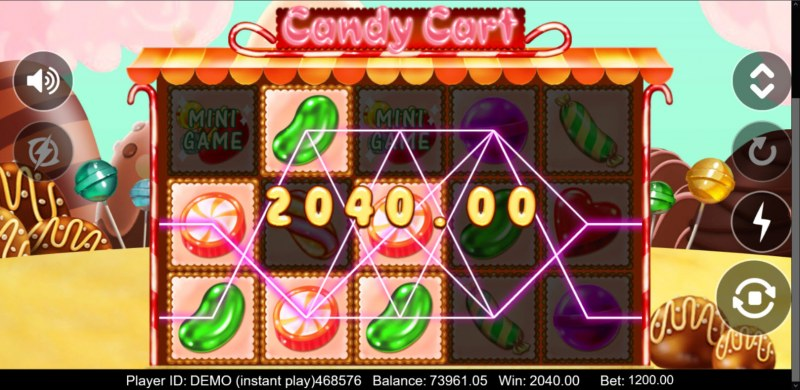 Candy Cart :: Multiple winning paylines
