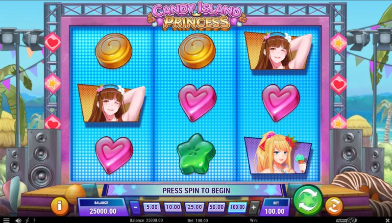 Candy Island Princess :: Base Game Screen