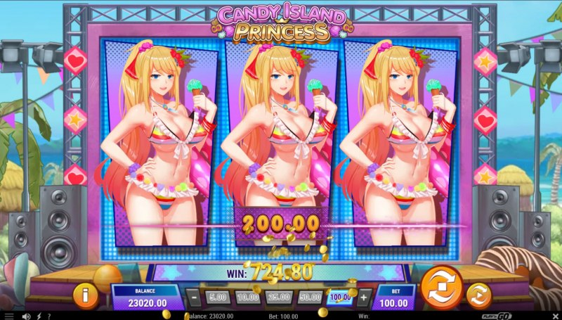 Candy Island Princess :: Multiple winning paylines