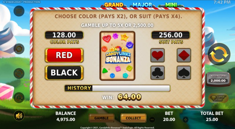 Candy Links Bonanza :: Gamble feature is available after every win