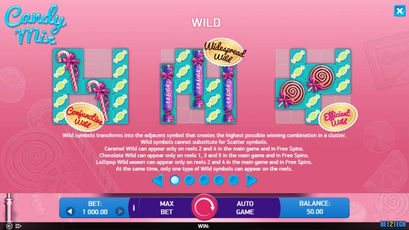 Candy Mix :: Wild Symbol Rules