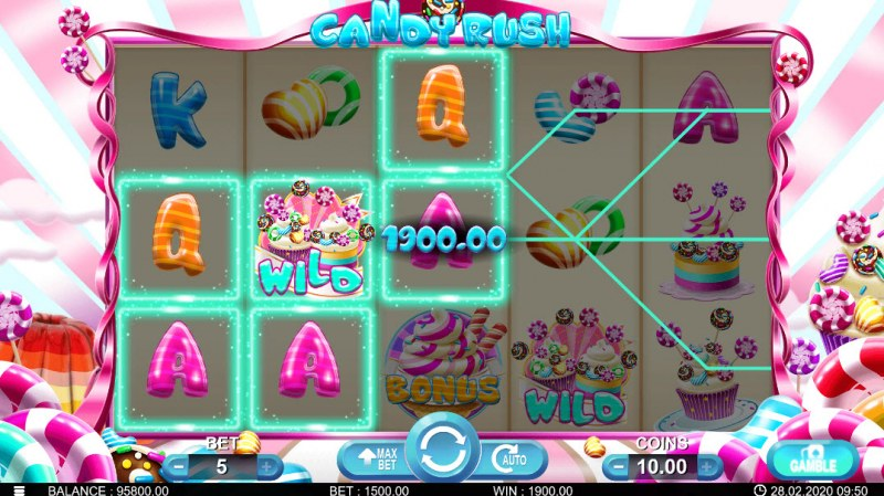 Candy Rush :: Multiple winning paylines
