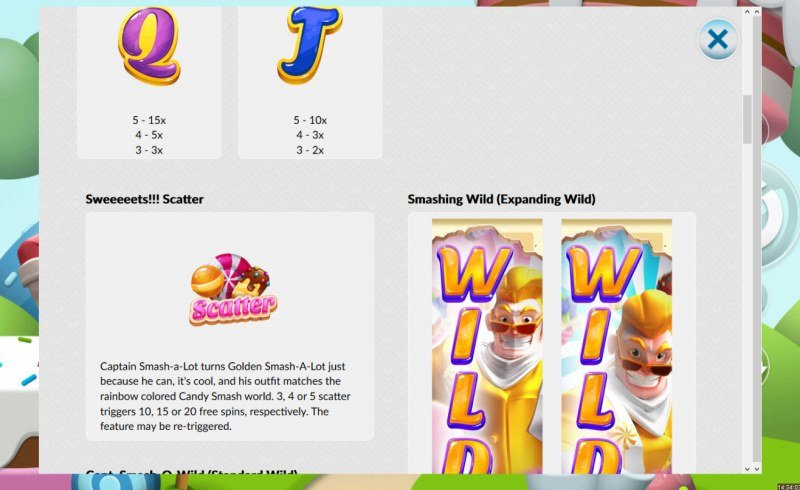 Candy Smash :: Wild and Scatter Rules