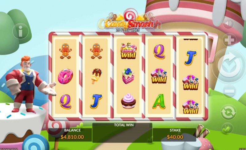 Candy Smash :: Bonus Wild triggers feature