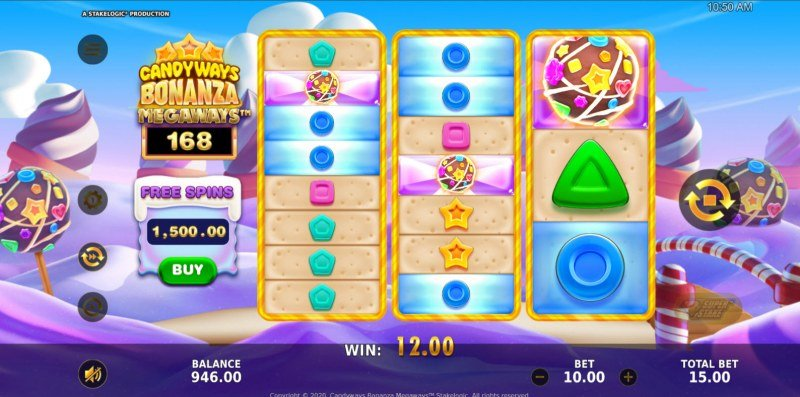 Candyways Bonanza Megaways :: Scatter symbols triggers the free spins bonus feature