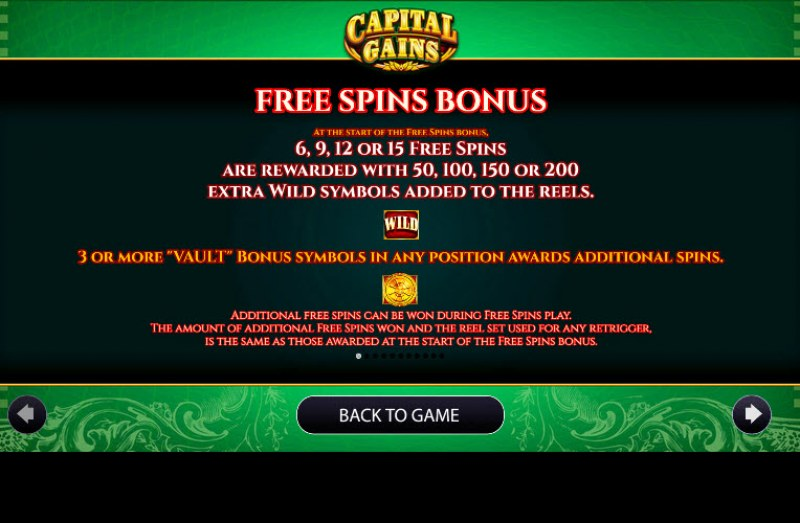 Capital Gains :: Free Spins Rules