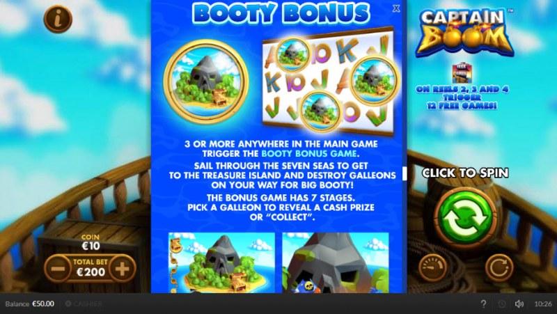 Captain Boom :: Booty Bonus