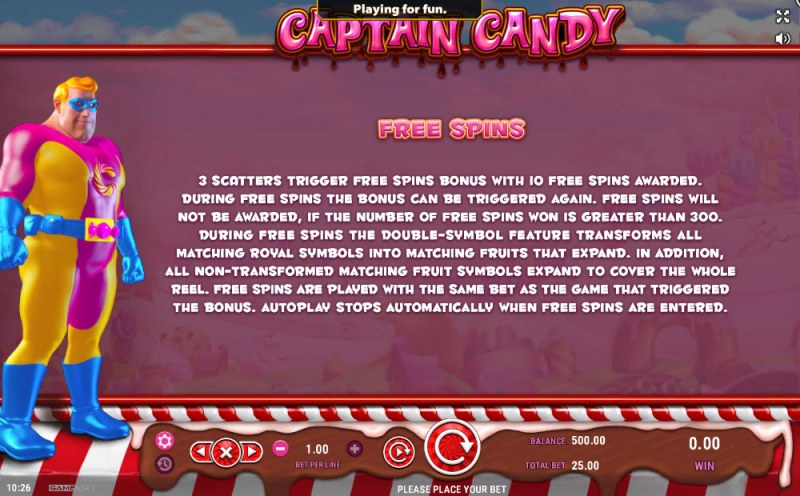 Captain Candy :: Feature Rules