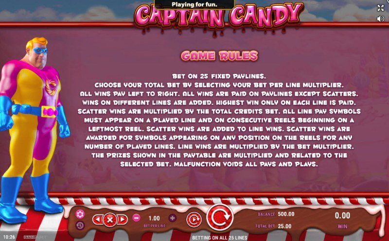 Captain Candy :: General Game Rules