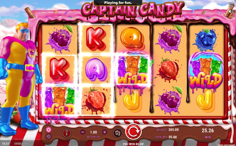 Captain Candy :: Multiple winning paylines