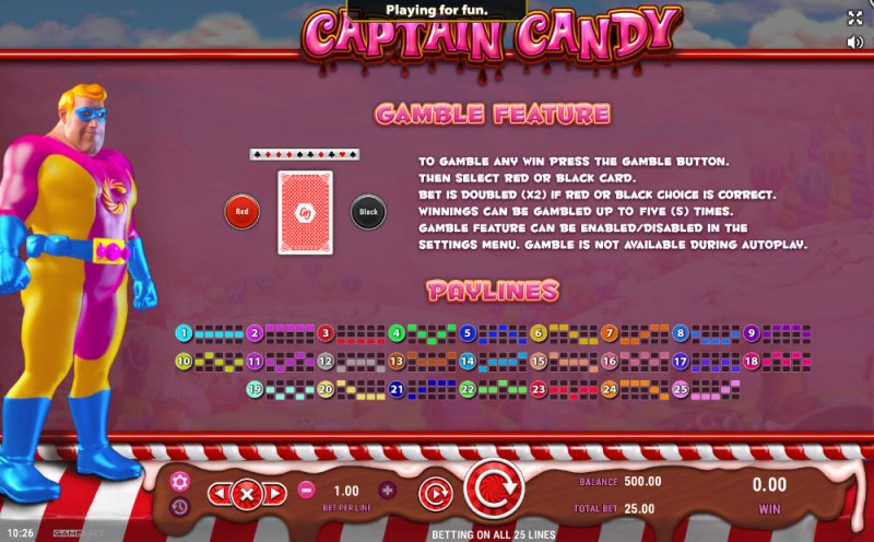 Captain Candy :: Gamble Feature Rules