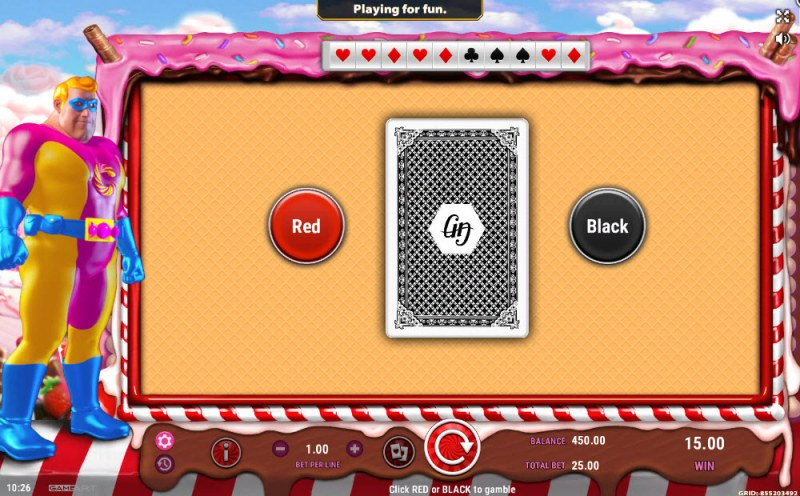 Captain Candy :: Black or Red Gamble Feature