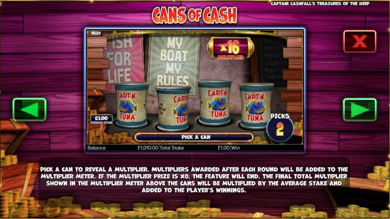 Captain Cashfall's Treasures of the Deep :: Cans of Cash