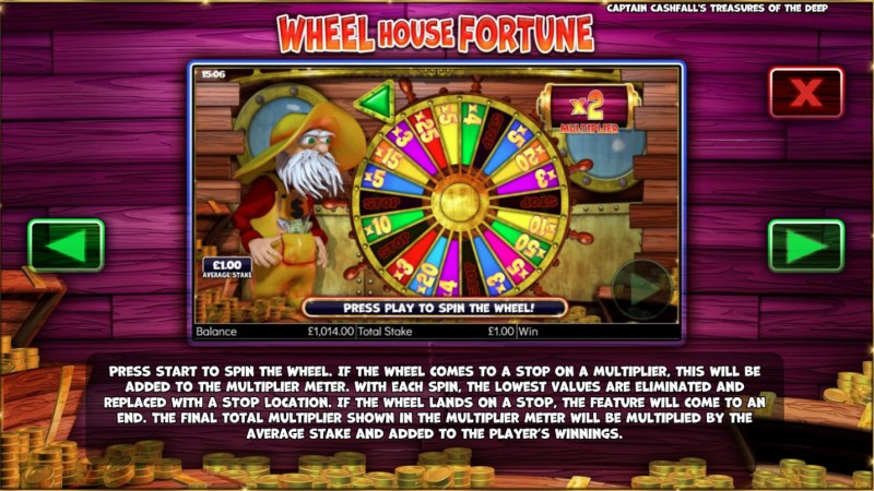 Captain Cashfall's Treasures of the Deep :: Wheel House Fortunes