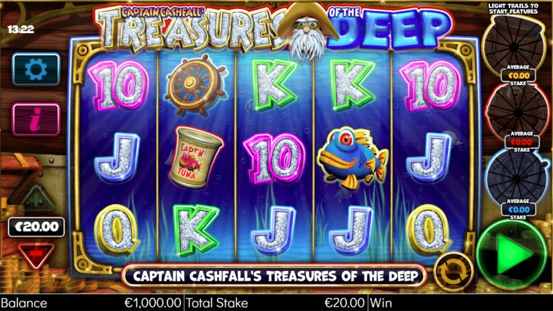 Captain Cashfall's Treasures of the Deep :: Main Game Board
