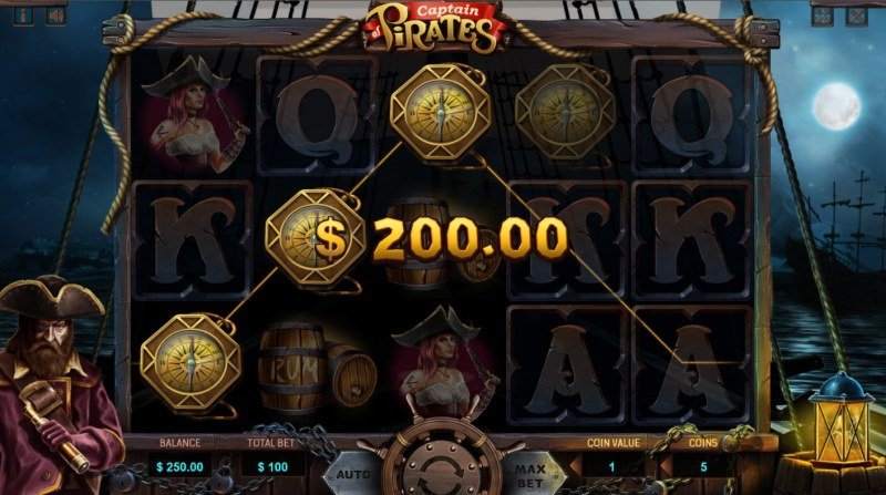 Captain of Pirates :: A three of a kind win
