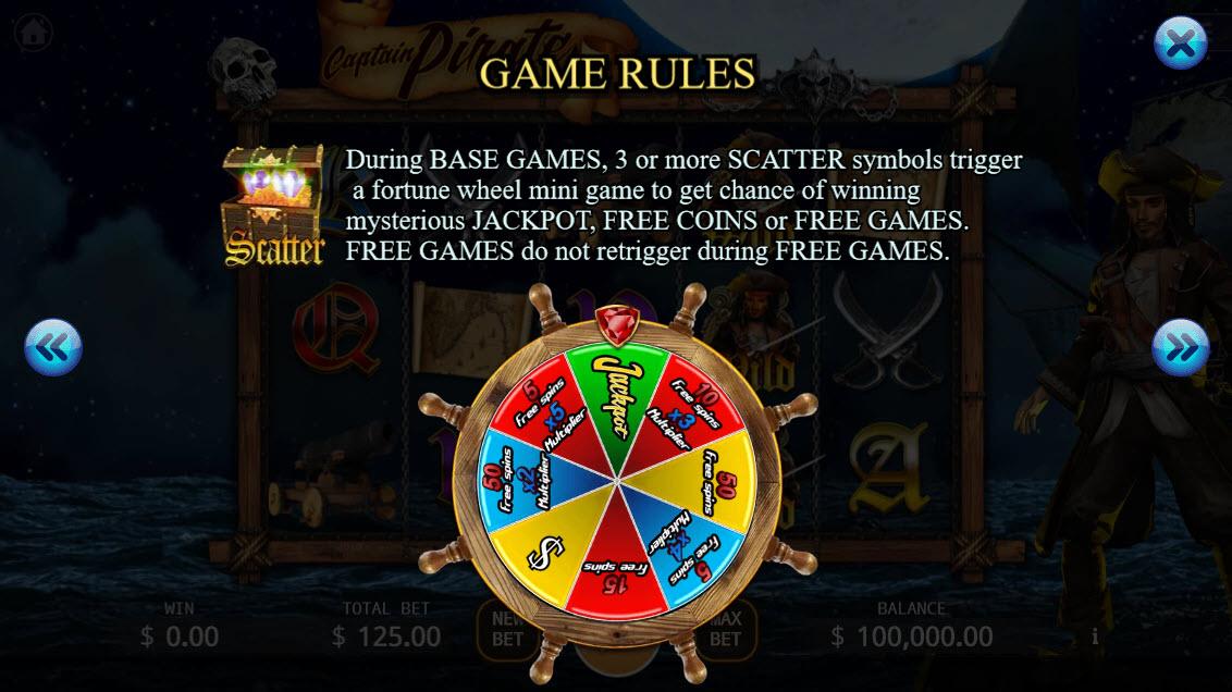 Captain Pirate :: Bonus Game Rules