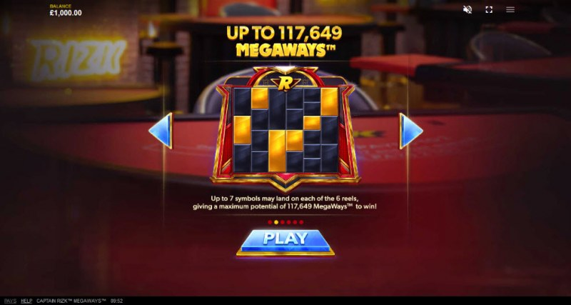 Captain Rizk Megaways :: Up to 117649 ways to win